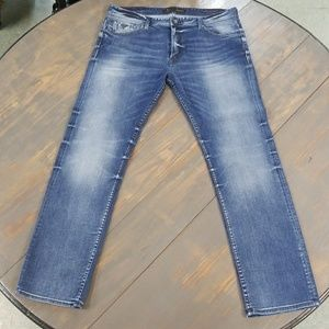 GUESS LOS ANGELES REGULAR STRAIGHT MENS BLUE JEANS